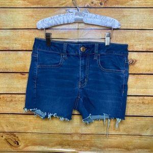 American Eagle Dark Wash Cutoff Jean Shorts 6